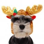 Chirstmas товары для животных собака теплая зима шляпы лось рога милый кот щенок уход шляпы рождество животным украшение PetSupplies