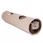 Кошка любимая Роскошные Замша Pet Cat Tunnel Сумасшедший Пожать Висит Шар Расширяемый Кошка Длинный Туннель Котенок Играть Игрушка складной