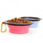 собака кошка миска щенок складной легко взять вне 3 цветов подачи воды фидер путешествия чаша блюдо