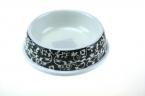 Оптовая продажа собака кошка кормушка черный узор питьевой пищу блюда шар любимчика красоты выглядит товаров для домашних животных