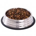 Из нержавеющей стали собака питатели кормушка несколько размеров еда вода чаша воды блюдо Pet для хранения S / M / L / XL non-slip