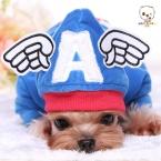 зимнее пальто одежды собаки капитан америка пальто осень тедди одежда удобный теплый милый рождественский платье чихуахуа