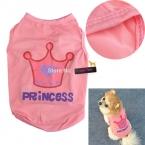 Горячая тема милый маленький питомец одежда для собак футболка напечатаны летом жилет принцесса стиль розовый PLFL