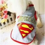 лето весна собака одежда жилет супер герой трехцветной спортивной платье из хлопка собака щенок одежда чихуахуа футболки