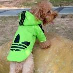 Цвета конфеты модной одежды собаки балахон ватки любимчика пальто зима теплая пот O-952