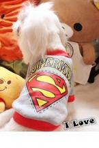 Супермен стиль собака одежда лето зима футболка красивое платье майка футболки лучший материал малый большая собака размер XXS XS L