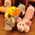 новый маленький средний большие собаки игрушки любимчика щенок чу пищалка скрипучий плюшевые звук свинья и слон игрушки 3 конструкции бесплатная доставка