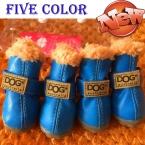 Супер теплая собака хлопка обувь зима теплая 4 шт./компл. собак загрузки Swaterproof антискользящая XS 2XL обувь для домашних собак щенок чихуахуа