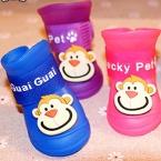 новые Pet продукт дождь обувь 4 шт./компл. собаки против скольжения водонепроницаемый резиновой обуви для кота собаки розовый обезьяна черный