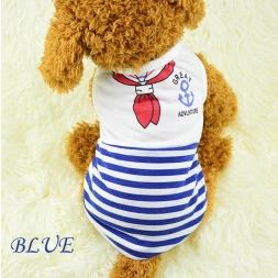 ГОРЯЧИЙ Продавать Лето Домашних Собак Хлопок Рубашка Жилет Одежда Красный Синий для Маленьких собак Чихуахуа Тедди Одежда Для Собак XS-XL Для Маленькой Девочки