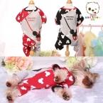 Новая собака зимняя одежда одежды махровые ткани комфорт xs-xl спальный платье симпатичные теплый маленький средний домашних собак чихуахуа