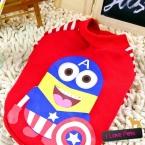 Superhero супермен Одежда для Домашних Собак  Прибытие Собак Одежда New Высокая Мода Лето Зима Собака Одежды миньон