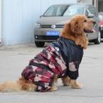 Средний Большой Большой Зимний Pet Одежда для собак Черный Красный Pet Одежда Пальто Толстовки Теплые Комбинезон Водонепроницаемый Золотистый ретривер XXL