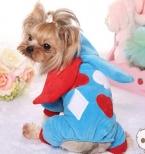 Домашних собак ну вечеринку одежда одежда платье голубой зеленый собака животное рождество хэллоуин платье XS L