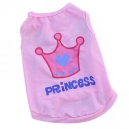 Новая Собака Pet Одежда Лето Розовая Принцесса Корона Жилет Без Рукавов Футболки Одежда качества во-первых