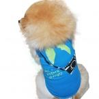 Летняя одежда для собак рубашка одежда дешевые Новая Мода Маленькая Собака Рукавов Камеры Печати Собак Pet Футболки Жилет 10IT