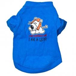 Синий пэт футболка летние одежды собаки для маленьких собак одежды жилет дешевые жиле залить цзянь качество первых