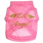 Дешевые животных для маленьких собак ангельские крылья розовый жилет одежда костюмы майка ropa пункт перро качество первых