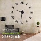 Современный Дизайн DIY 3D Большой Настенные Часы Home Decor Кварц Horloge Часы настенные Наклейки Reloj Де Сравнению Акриловое Зеркало Часы 20 Дюймов