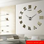 Продвижение  новых домашнего декора большой роман зеркало мода современные кварцевые часы гостиная diy настенные часы бесплатная доставка