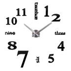 горячие новые кварцевые часы мода часы 3d настоящий большой настенные часы бросился зеркало наклейка diy современный дизайн декор бесплатная доставка