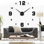 Мода 3D  новый продажа часы настенные часы reloj де сравнению часы 3D diy акриловое зеркало наклейки кварцевые современный дом украшения