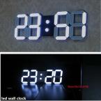 Некоторые страны корабль DHL большой современный дизайн цифровой из светодиодов настенные часы большой творческий старинные часы украшения дома декор 3d белый подарок