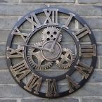 Настоящее 3D старинные декоративное искусство большой настенные часы большой на стене