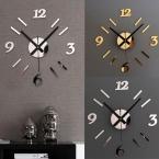 Diy настенные часы 3D зеркальной поверхности наклейка домашнего офиса декор часы кит горячие бесплатная доставка