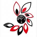 поступление горячей номер большой цветок кварц акриловые diy настенные часы современный дизайн роскошный 3d зеркало часы настенные часы бесплатно доставка