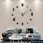 большие декоративные настенные часы краткая дизайн diy часы цифровые часы кварцевые гостиная 3d кошка наклейки бесплатная доставка