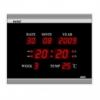Гостиная из светодиодов цифровой настенные часы ес разъем для кристалл электронный календарь световой цифровой будильник настольные часы  часы на стену электронные часы