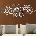 новых кварцевые настенные часы современный дизайн Reloj де сравнению большой оптово-декоративные часы 3d Diy акриловое зеркало гостиной бесплатная доставка