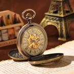 Великолепные механические часы-багет в стиле Стим-панк на цепочке и открывающимися с двух сторон крышками