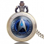 Горячие Продажи Стиль Star Trek Тему 3 Цвета Карманные Часы С Цепи Ожерелье Высокое Качество Fob Часы