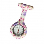 Привлекательный мода цветочные медсестра клип - на Fob брошь кулон висит карманные часы JY27