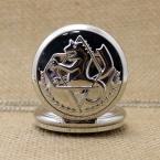 Серебряный Vintage Стальной Алхимик Ожерелье Кварцевые Карманные Часы Сеть Подарков P423