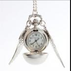 Мода женщина мужчины леди серебряное крыло серебро бронза мяч крылья антикварная стимпанк карманные часы