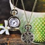 Улучшенный горячие мода урожай ретро бронзовый кварцевые карманные часы цепи ожерелье Feb15