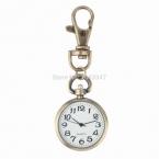 1 шт. Ретро Бронзовый Кварц винтаж карманные часы Брелок Брелок Часы Карманные Часы Круглый Циферблат