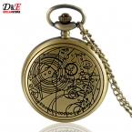 Старинные бронзовый стальной алхимик карманные часы доктор кто дэдпул супермен ожерелье подарок