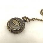 Горячая карманные часы подвеска ожерелье цепь мода урожай ретро бронзовый кварцевые часы Fullmental рождество круглый карманные часы на колесах