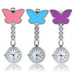 Женская симпатичные кулон бабочка медсестра клип - на брошь кварц висячие карманные часы 98YZ