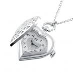 Горячая новинка урожай ретро милые женщины сердца полости бал-форма ожерелье цепи карманные часы подарок