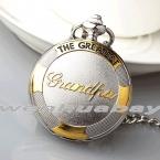 Роскошные Золотые Кварцевые Часы GREATEST Дедушка Карманные Часы FOB Цепи Ожерелье Подарок На День Рождения для Дедушки Relogio Де Bolso