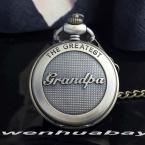 поступление античная самый большой дедушка бронзовый кварцевые карманные часы цепи мужская Высокое качество лучшие подарки P309-1