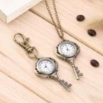 Старинные антикварные нержавеющей стали кварцевые карманные часы ключ-образная подвеска часы унисекс подарок новый популярные