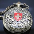 Vingtage швейцария бронза медь тон рука ветер скелет механическая брелок карманные часы мужские подвеска часы цепи бесплатная доставка