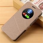 Случаи мобильного телефона для asus zenfone 5 case, a501cg a500kl люкс флип открытое окно посмотреть оригинальный бренд кожаный чехол флип