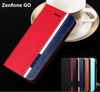 Бизнес and Мода Флип Кожаный Чехол Чехол Для ASUS Zenfone Go ZC500TG 5.0 дюймов Случай Мобильного Телефона Крышки Смешанные карты слот